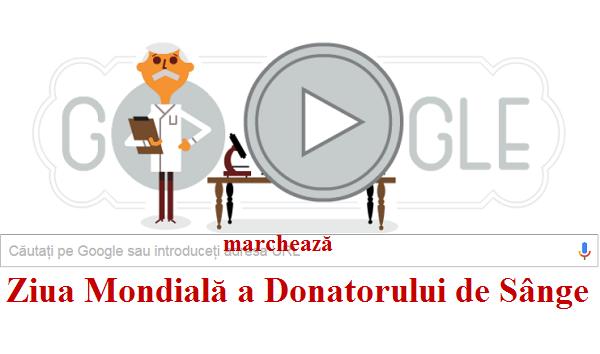 Google marchează Ziua Mondială a Donatorului de Sânge