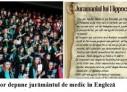 """Primii absolvenți ai USMF """"Nicolae Testemițanu"""" depun jurământul de medic în engleză"""